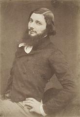 Gustave Courbet fotografiado en 1853 por Victor Laisné y E. Defonds