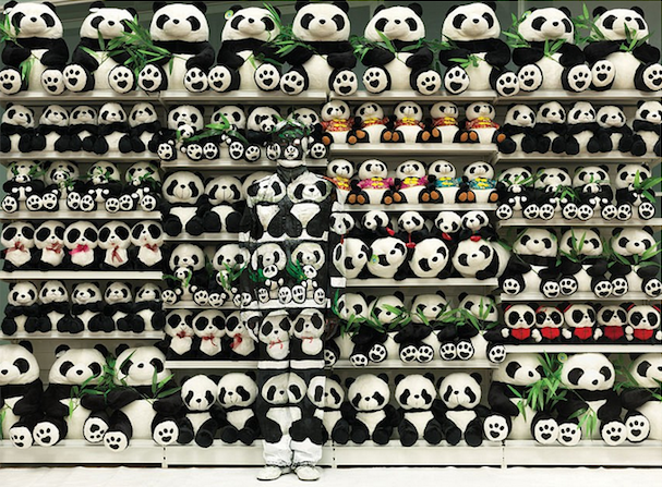 Liu Bolin, Hiding in the City - Panda, 2011