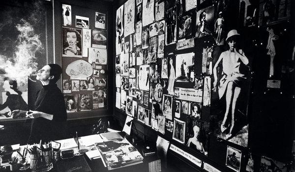 Diana Vreeland en las oficinas de VOGUE. Fotografía de James P Karales:Samuel Goldwyn Films